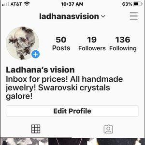 Go follow my Instagram for handmade jewelry